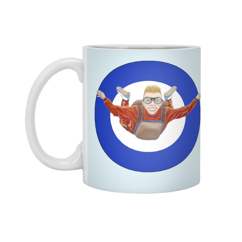 Skydiver (blue) Accessories Standard Mug by RealZeal's Artist Shop