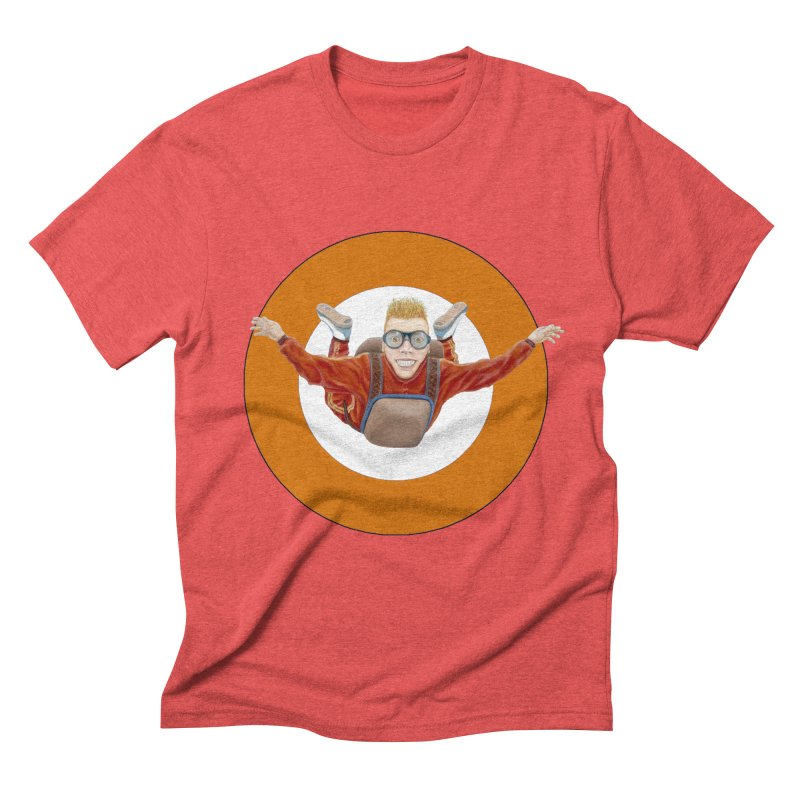 Skydiver (Orange) Men's T-Shirt by RealZeal's Artist Shop