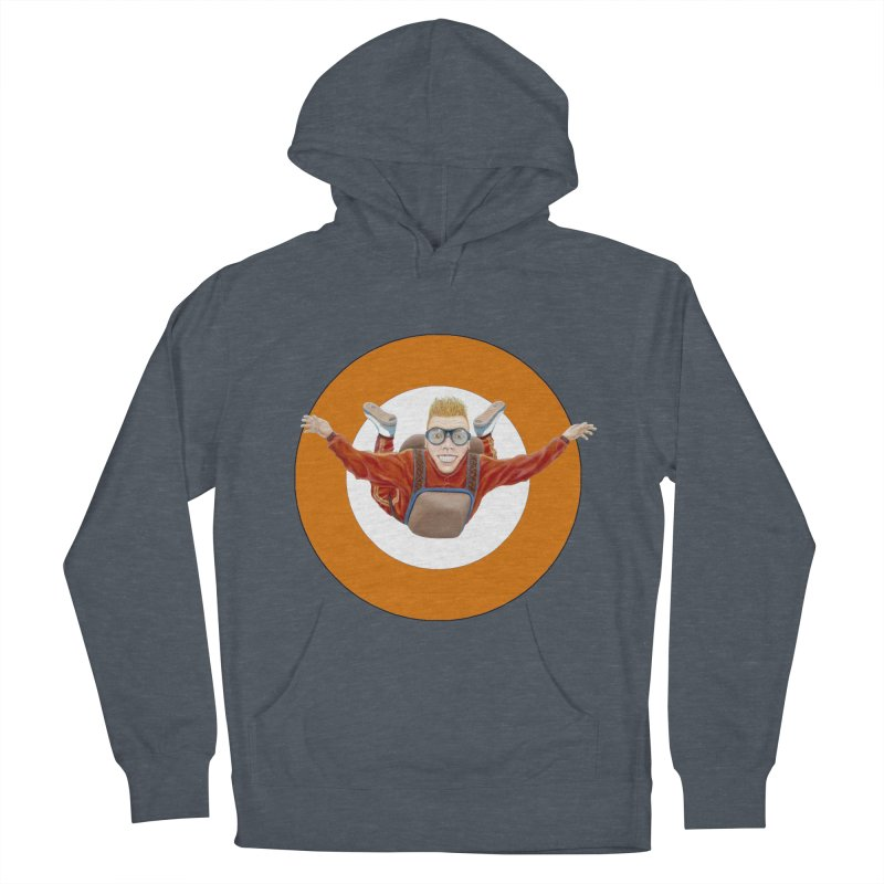 Skydiver (Orange) Women's Pullover Hoody by RealZeal's Artist Shop