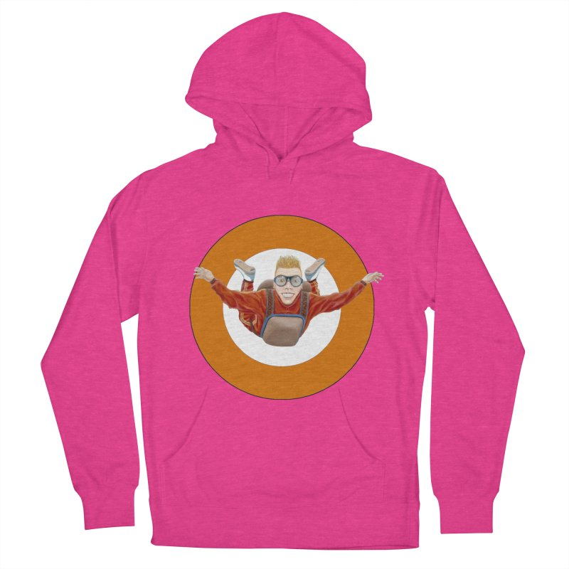 Skydiver (Orange) Women's French Terry Pullover Hoody by RealZeal's Artist Shop