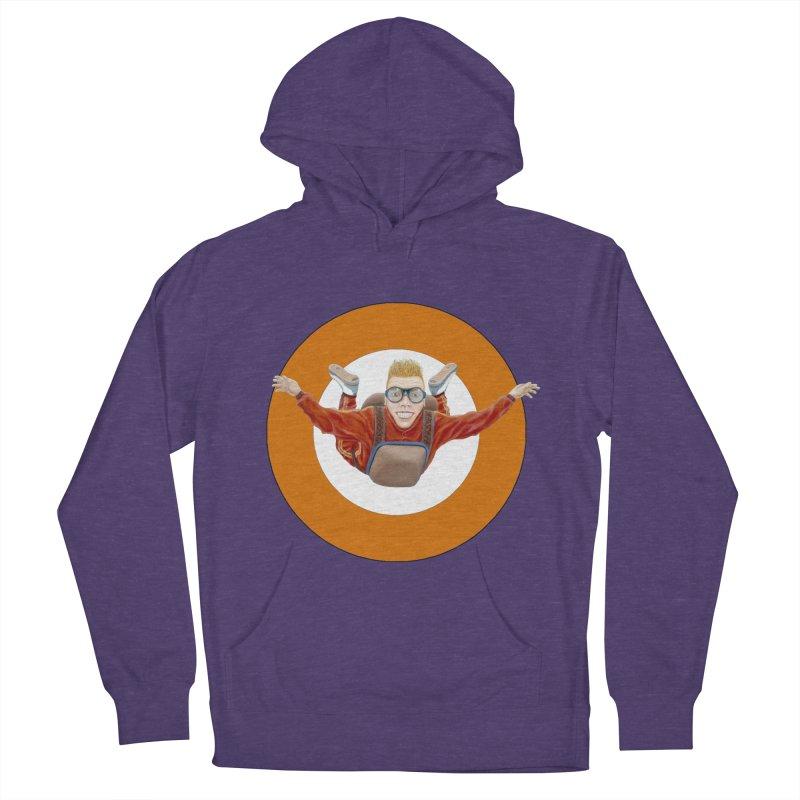 Skydiver (Orange) Men's Pullover Hoody by realzeal's Artist Shop