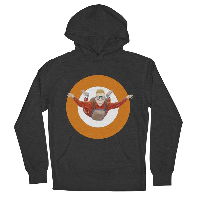 Skydiver (Orange) Men's Pullover Hoody by RealZeal's Artist Shop
