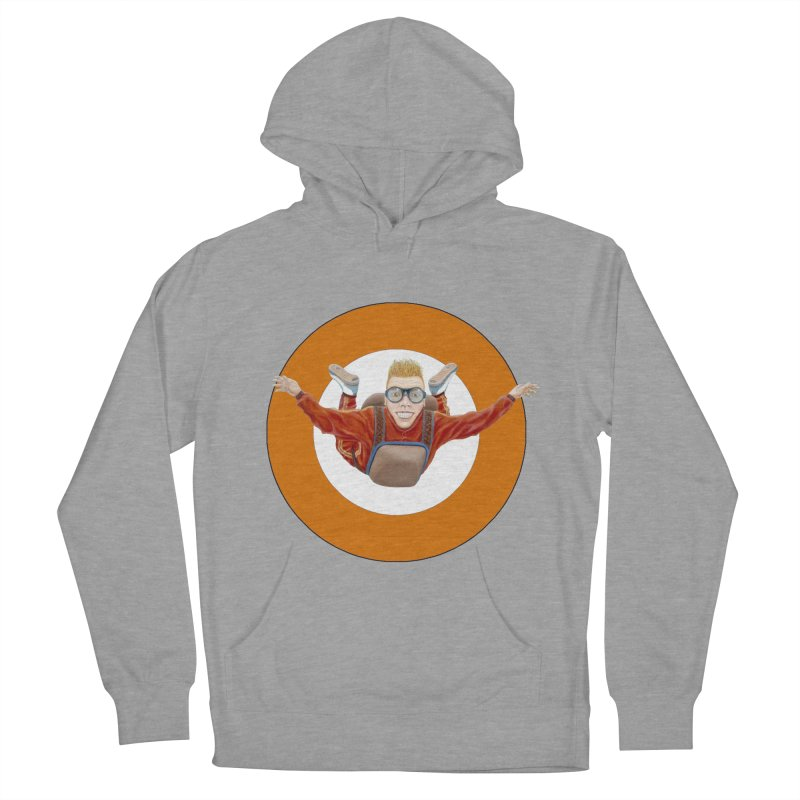 Skydiver (Orange) Men's French Terry Pullover Hoody by RealZeal's Artist Shop