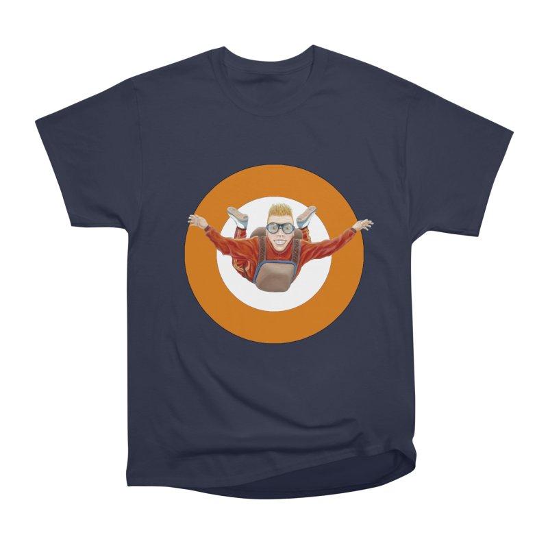Skydiver (Orange) Men's Heavyweight T-Shirt by RealZeal's Artist Shop