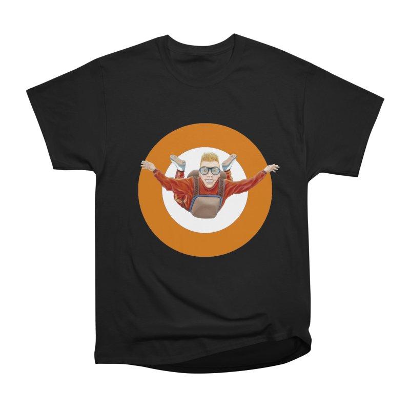 Skydiver (Orange) Men's Classic T-Shirt by RealZeal's Artist Shop