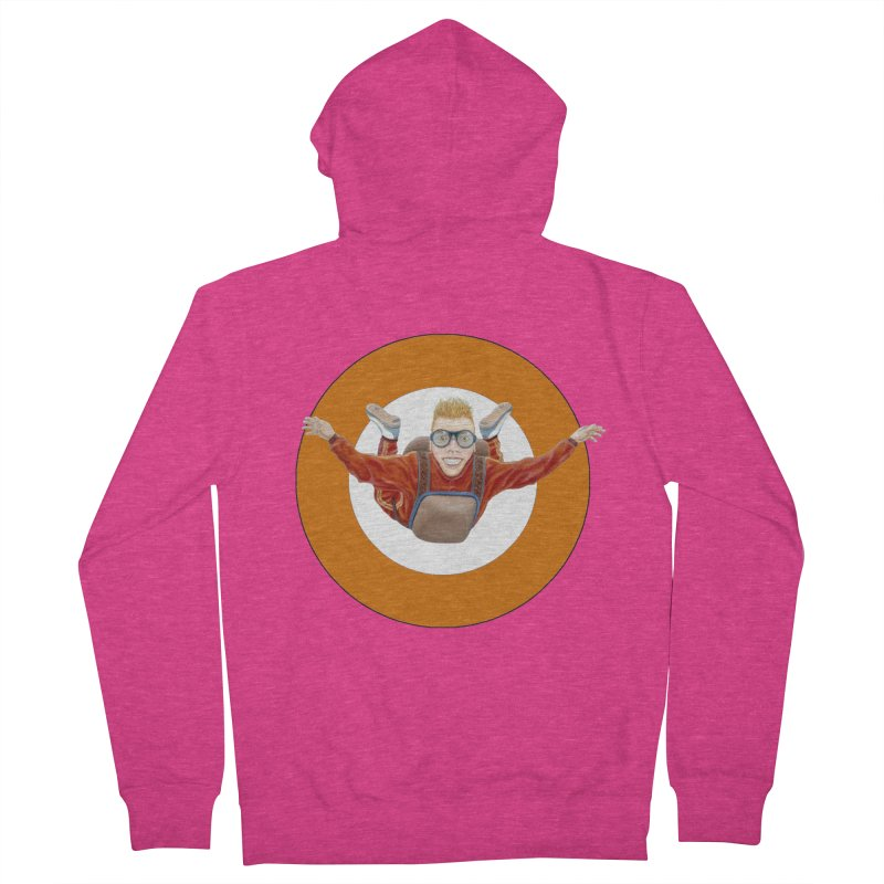 Skydiver (Orange) Women's French Terry Zip-Up Hoody by RealZeal's Artist Shop