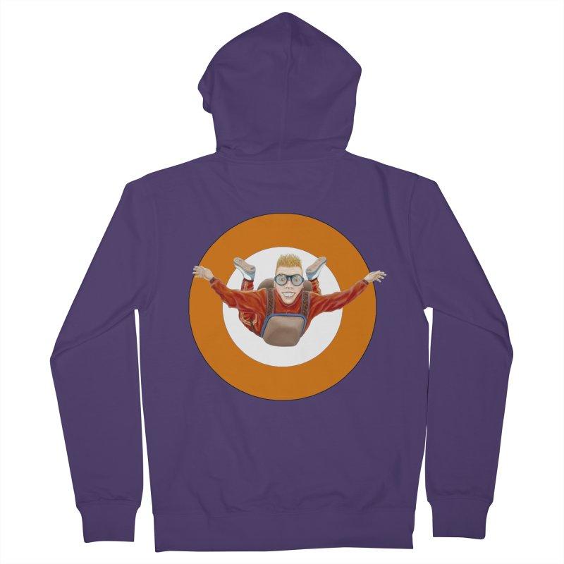 Skydiver (Orange) Women's Zip-Up Hoody by RealZeal's Artist Shop