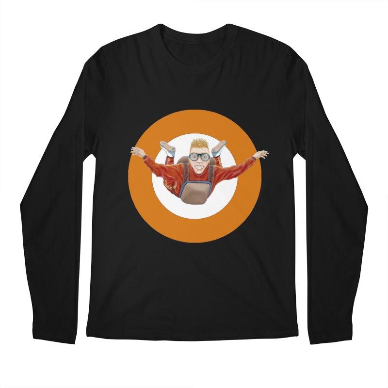 Skydiver (Orange) Men's Longsleeve T-Shirt by RealZeal's Artist Shop