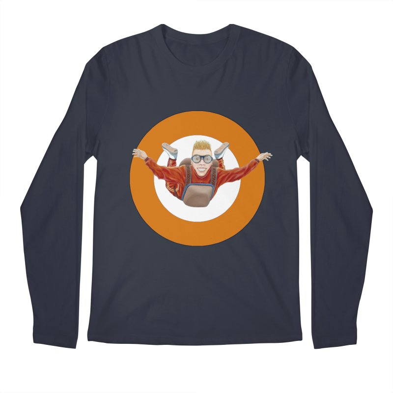 Skydiver (Orange) Men's Regular Longsleeve T-Shirt by RealZeal's Artist Shop