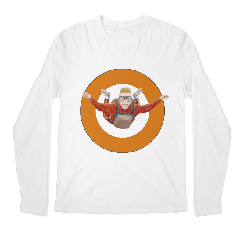 Skydiver (Orange) Men's Regular Longsleeve T-Shirt by RealZeal's Artist Shop