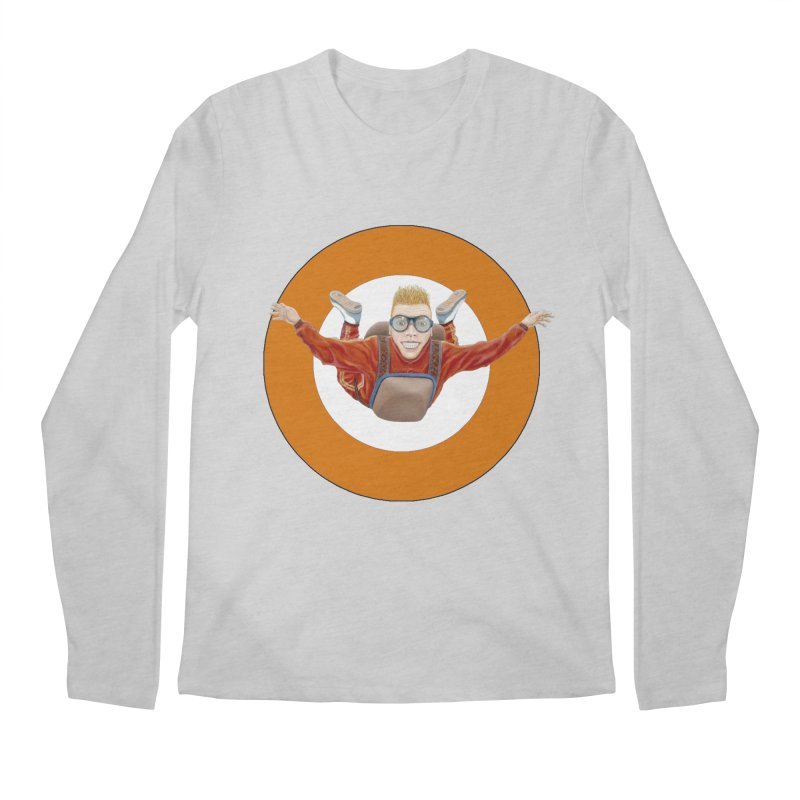 Skydiver (Orange) Men's Longsleeve T-Shirt by RealZeal's Artist Shop
