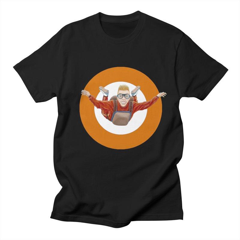 Skydiver (Orange) Men's Regular T-Shirt by RealZeal's Artist Shop