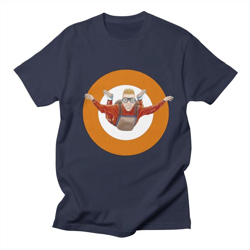 Skydiver (Orange) Women's Regular Unisex T-Shirt by RealZeal's Artist Shop