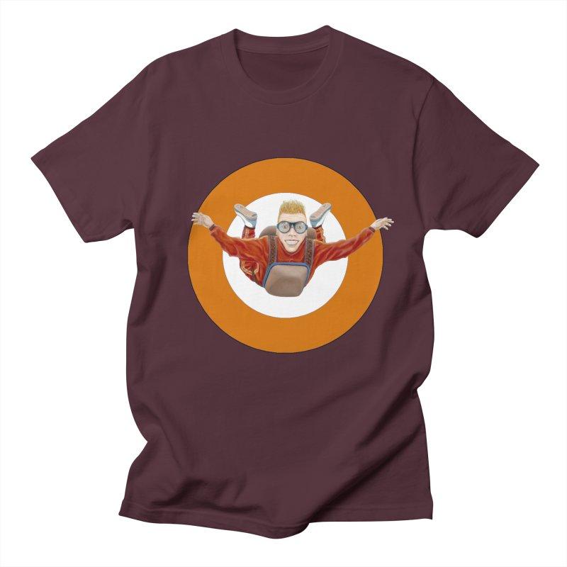 Skydiver (Orange) Women's Unisex T-Shirt by realzeal's Artist Shop