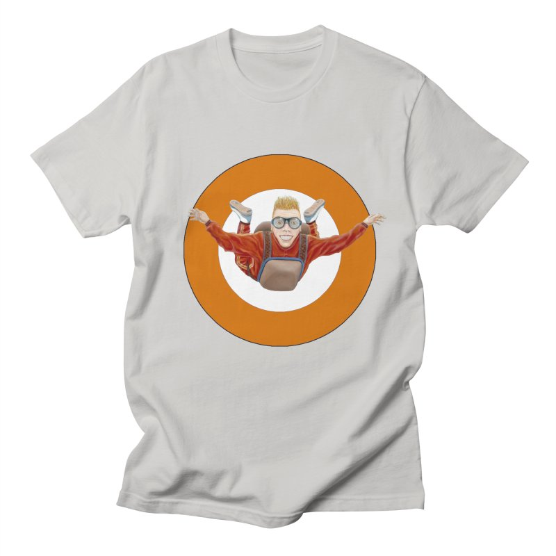 Skydiver (Orange) Men's Regular T-Shirt by RealZeal's Artist Shop