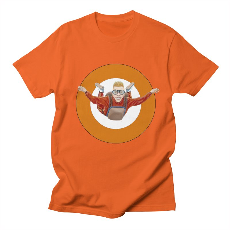 Skydiver (Orange) Women's Unisex T-Shirt by RealZeal's Artist Shop