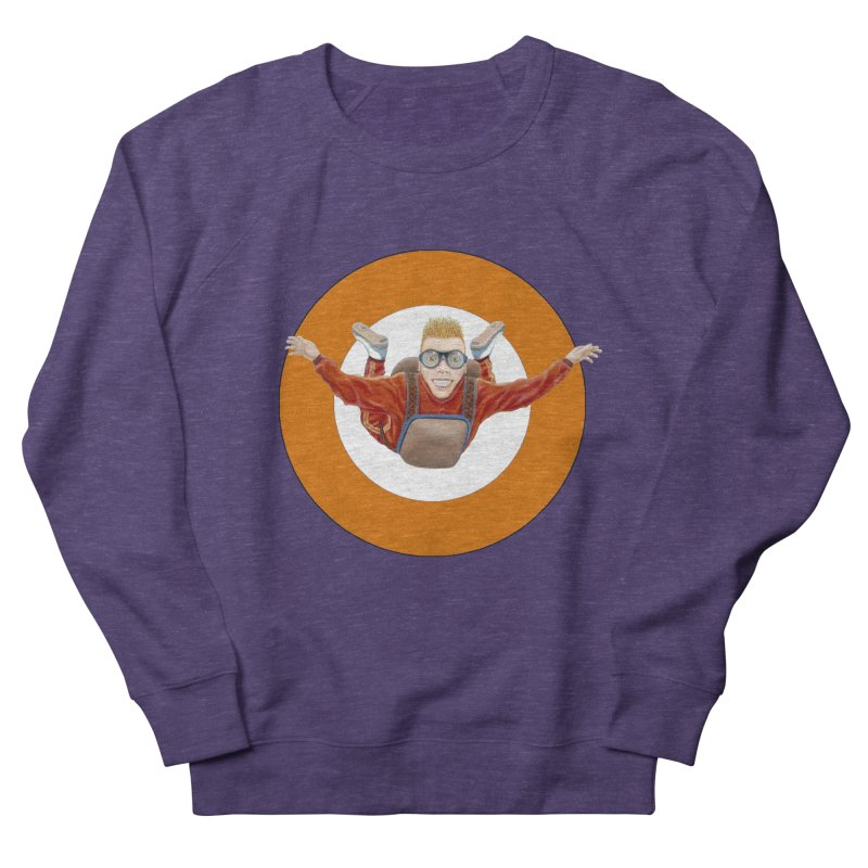 Skydiver (Orange) Women's Sweatshirt by RealZeal's Artist Shop