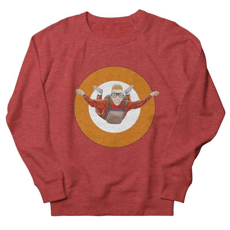 Skydiver (Orange) Women's Sweatshirt by RealZeal's Artist Shop