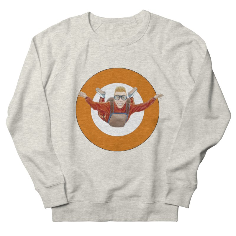 Skydiver (Orange) Women's French Terry Sweatshirt by RealZeal's Artist Shop