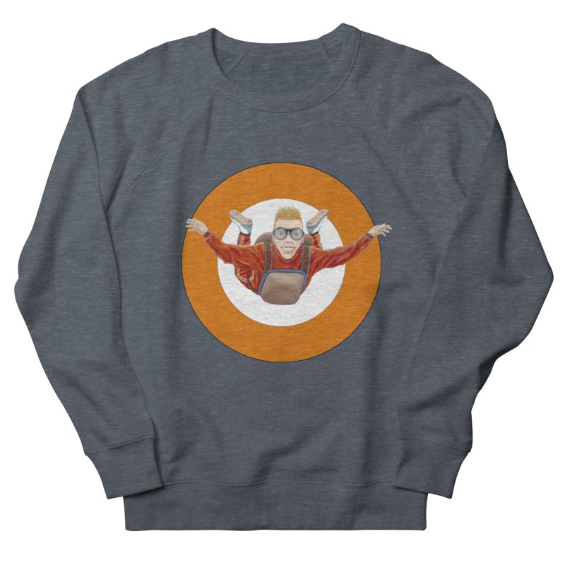 Skydiver (Orange) Men's Sweatshirt by RealZeal's Artist Shop