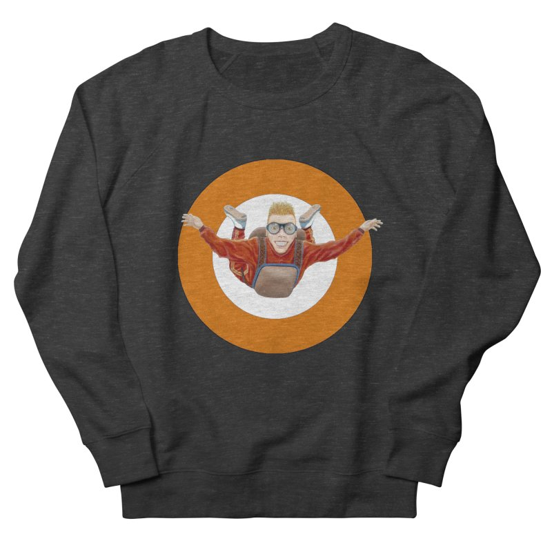 Skydiver (Orange) Men's French Terry Sweatshirt by RealZeal's Artist Shop