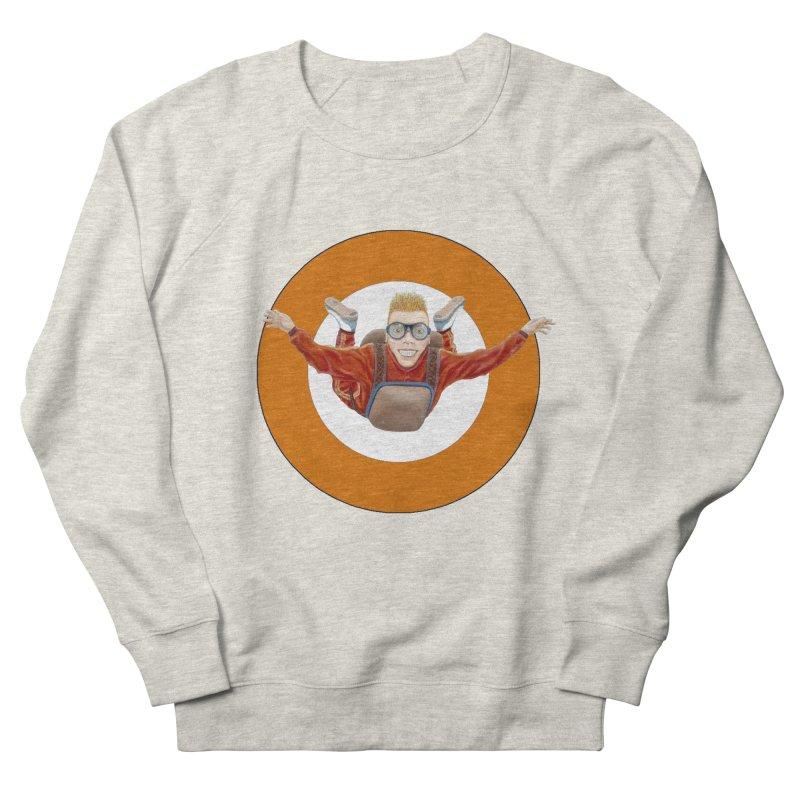 Skydiver (Orange) Men's Sweatshirt by RealZeal's Artist Shop