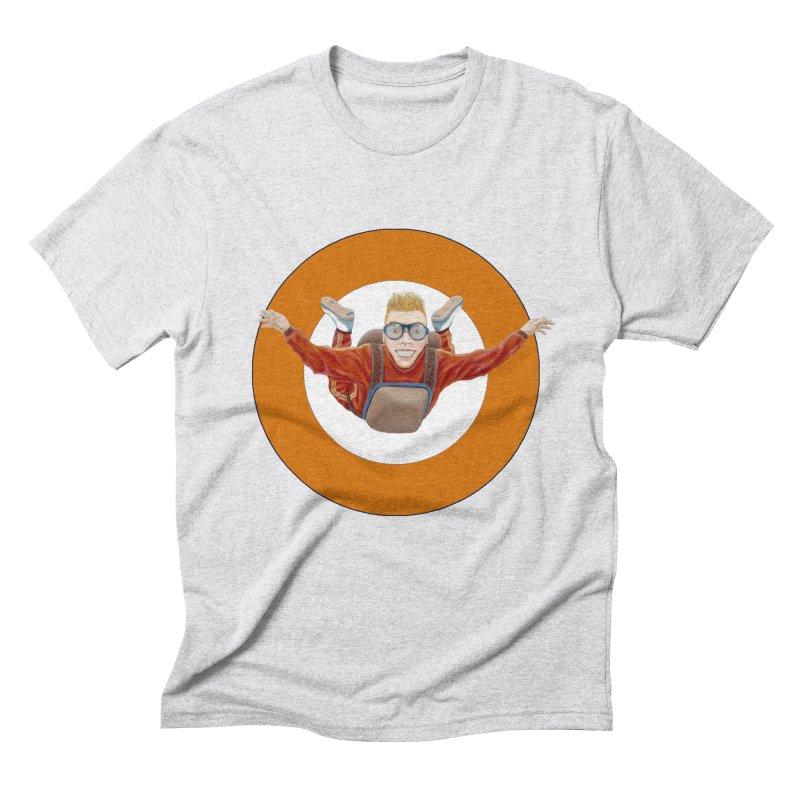 Skydiver (Orange) Men's Triblend T-Shirt by RealZeal's Artist Shop
