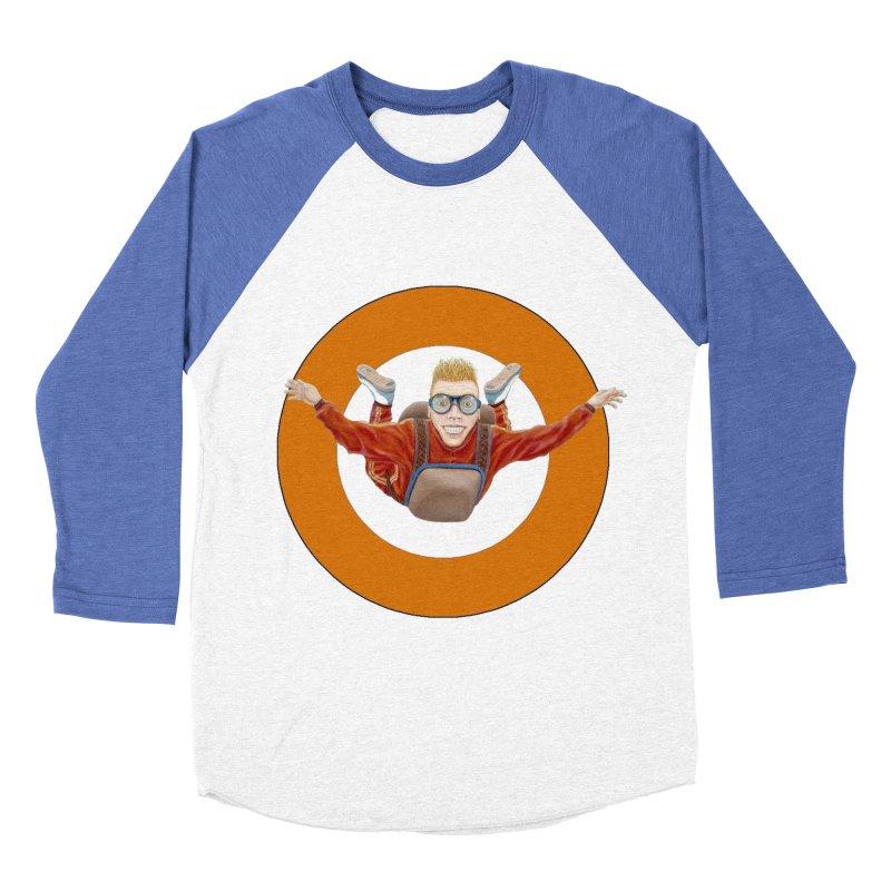 Skydiver (Orange) Women's Baseball Triblend T-Shirt by RealZeal's Artist Shop
