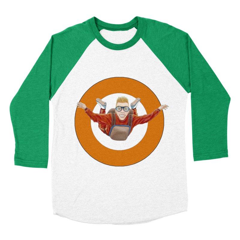 Skydiver (Orange) Women's Baseball Triblend Longsleeve T-Shirt by RealZeal's Artist Shop