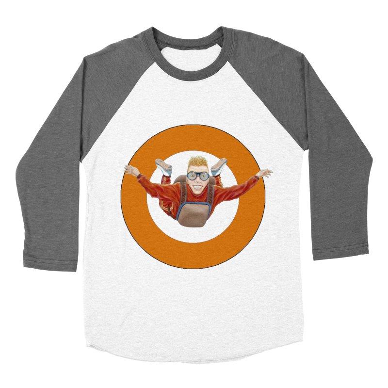 Skydiver (Orange) Men's Baseball Triblend Longsleeve T-Shirt by RealZeal's Artist Shop