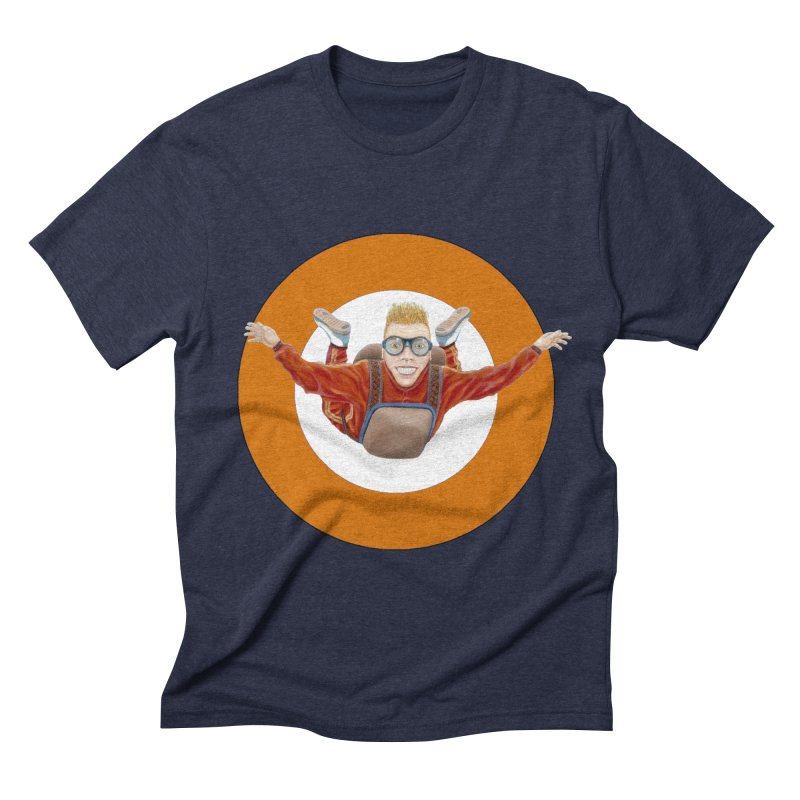 Skydiver (Orange) Men's Triblend T-shirt by realzeal's Artist Shop