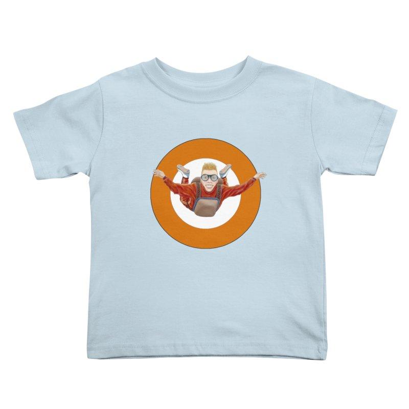 Skydiver (Orange) Kids Toddler T-Shirt by RealZeal's Artist Shop