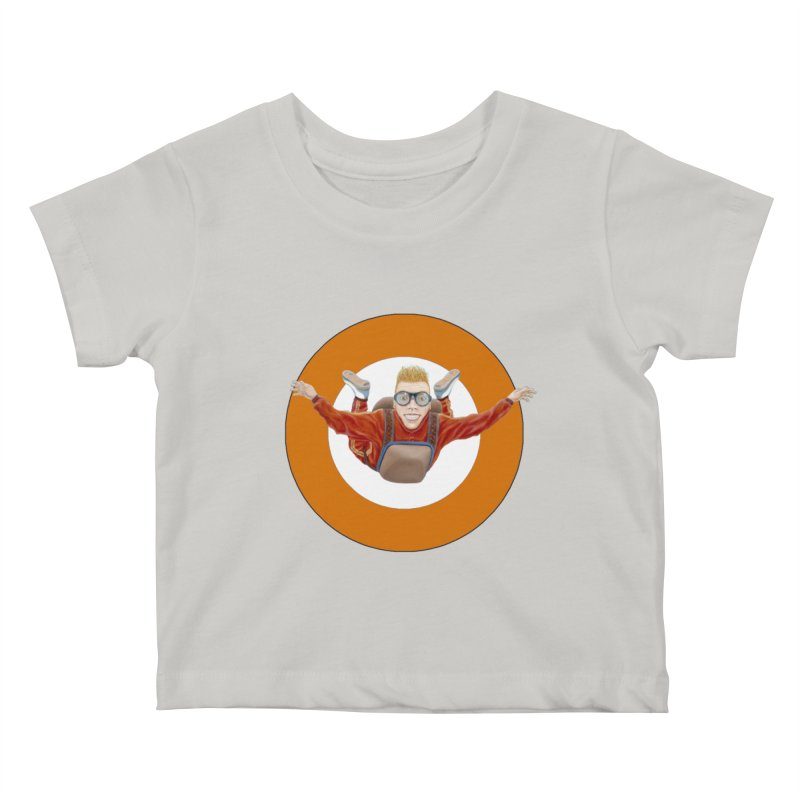 Skydiver (Orange) Kids Baby T-Shirt by RealZeal's Artist Shop
