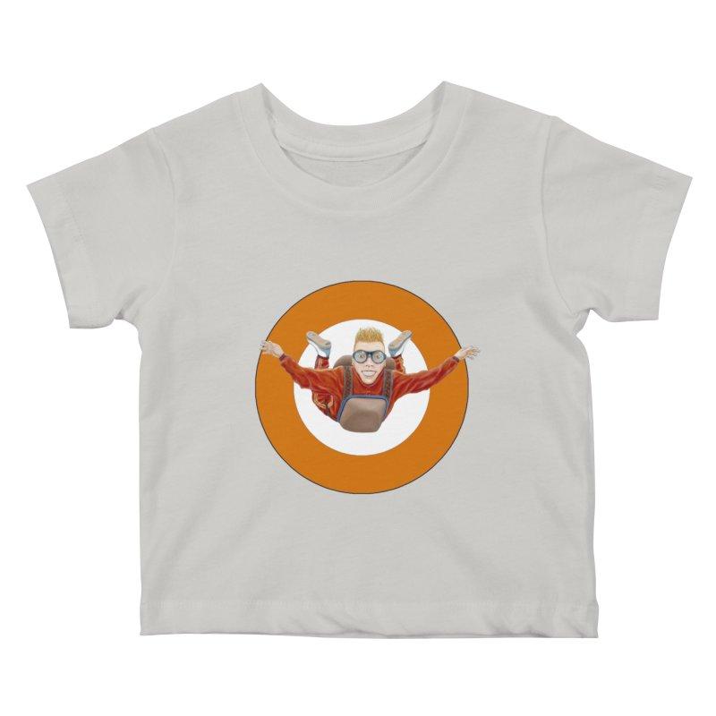 Skydiver (Orange) Kids  by RealZeal's Artist Shop