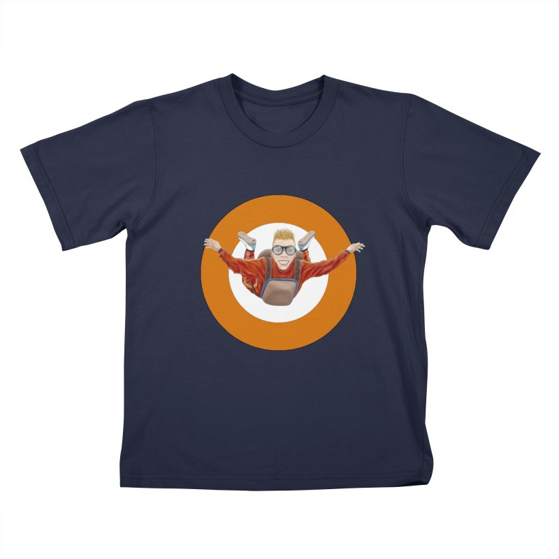 Skydiver (Orange) Kids T-Shirt by RealZeal's Artist Shop