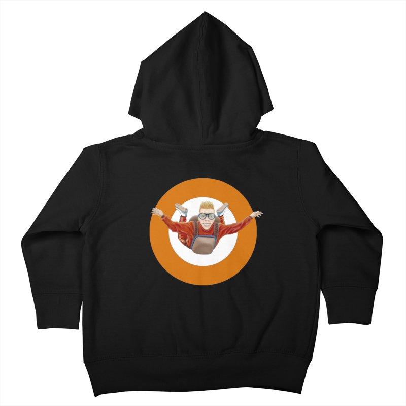 Skydiver (Orange) Kids Toddler Zip-Up Hoody by RealZeal's Artist Shop