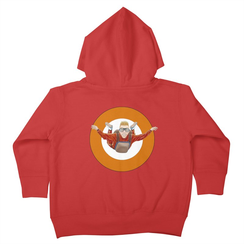 Skydiver (Orange) Kids Toddler Zip-Up Hoody by RealZeal's Artist Shop