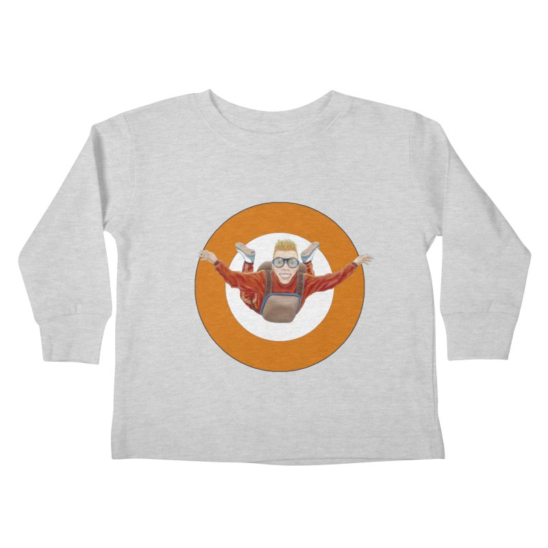 Skydiver (Orange) Kids Toddler Longsleeve T-Shirt by RealZeal's Artist Shop