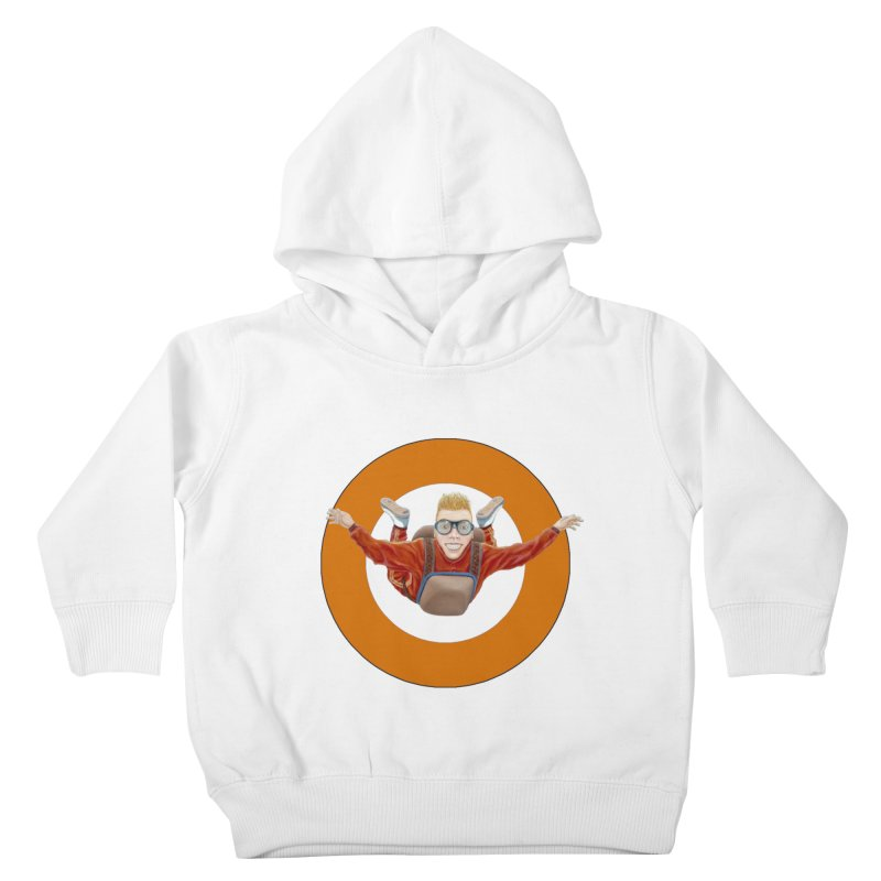 Skydiver (Orange) Kids Toddler Pullover Hoody by RealZeal's Artist Shop