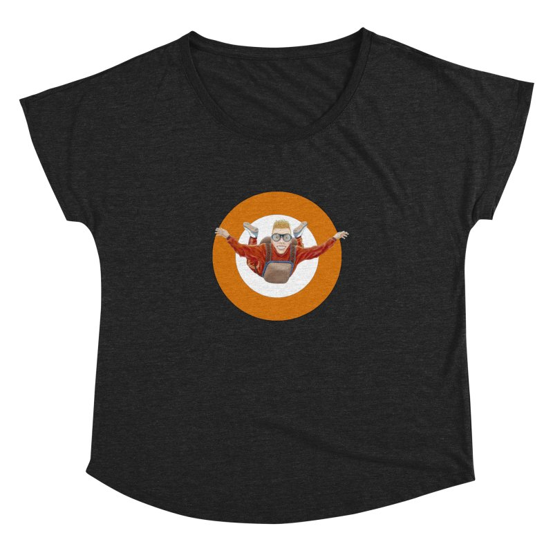 Skydiver (Orange) Women's Dolman Scoop Neck by RealZeal's Artist Shop