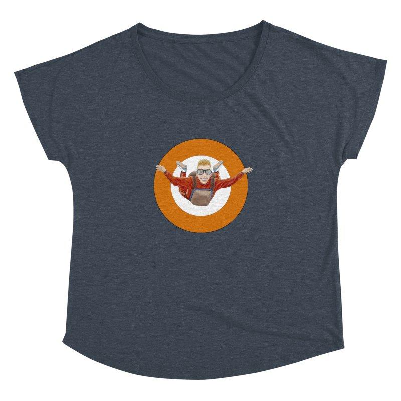 Skydiver (Orange) Women's Dolman by RealZeal's Artist Shop
