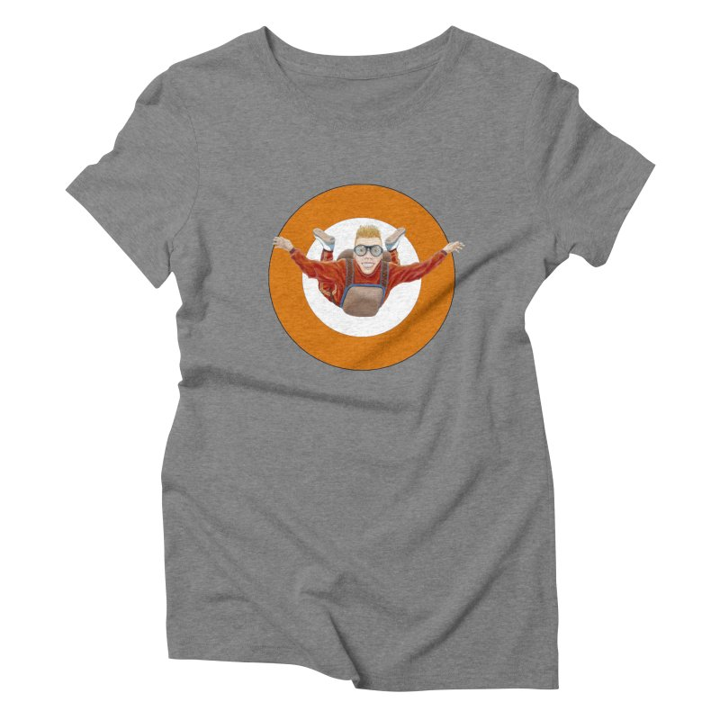 Skydiver (Orange) Women's Triblend T-Shirt by RealZeal's Artist Shop
