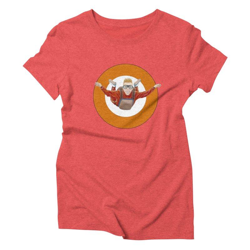 Skydiver (Orange) Women's Triblend T-Shirt by RealZeal's Artist Shop