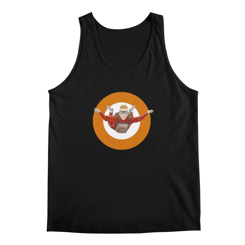 Skydiver (Orange) Men's Tank by RealZeal's Artist Shop