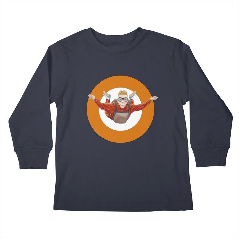 Skydiver (Orange) Kids Longsleeve T-Shirt by RealZeal's Artist Shop