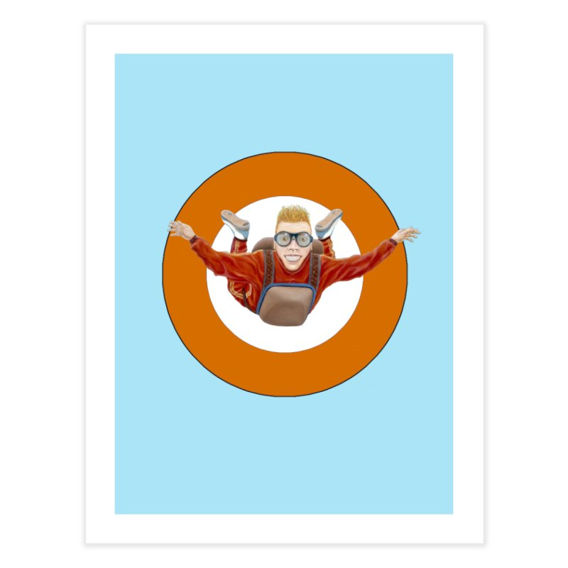 Skydiver (Orange) Home Fine Art Print by RealZeal's Artist Shop