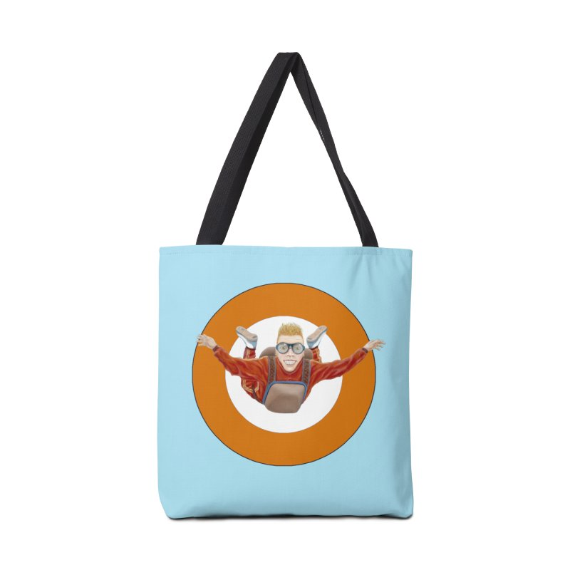 Skydiver (Orange) Accessories Tote Bag Bag by RealZeal's Artist Shop