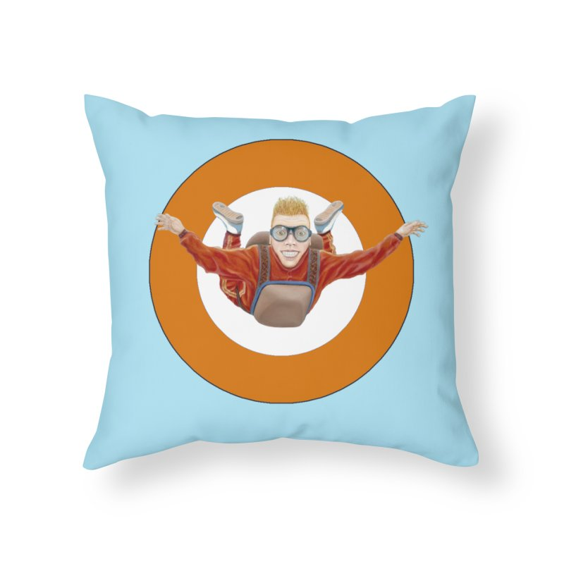 Skydiver (Orange) Home Throw Pillow by realzeal's Artist Shop