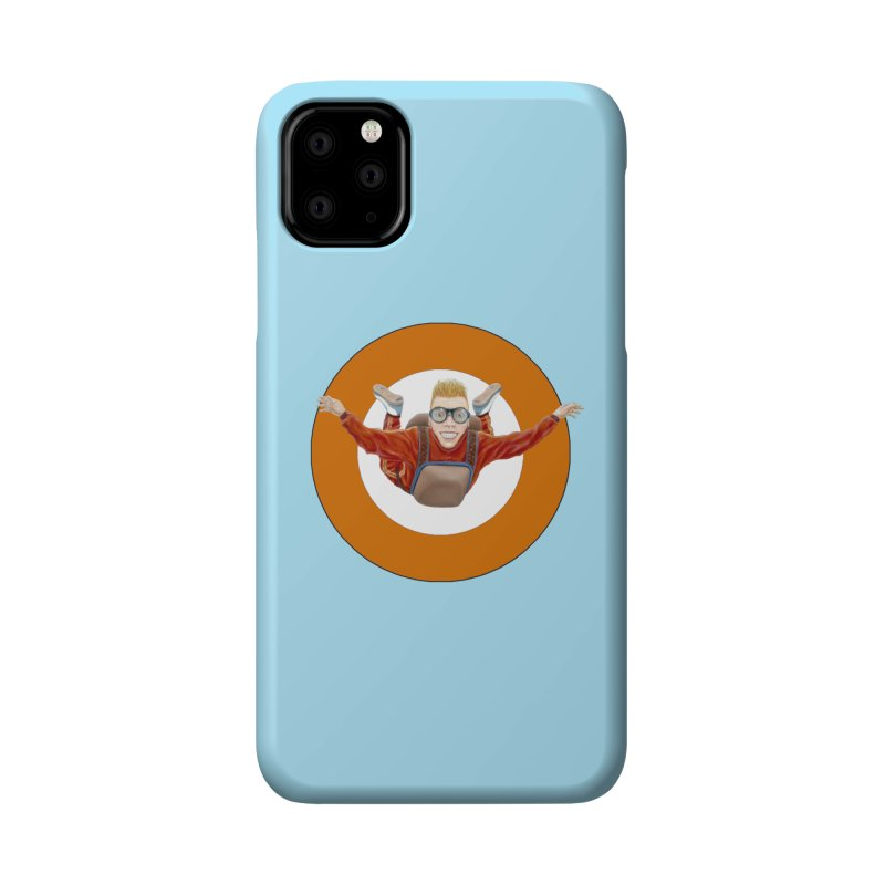 Skydiver (Orange) Accessories Phone Case by RealZeal's Artist Shop