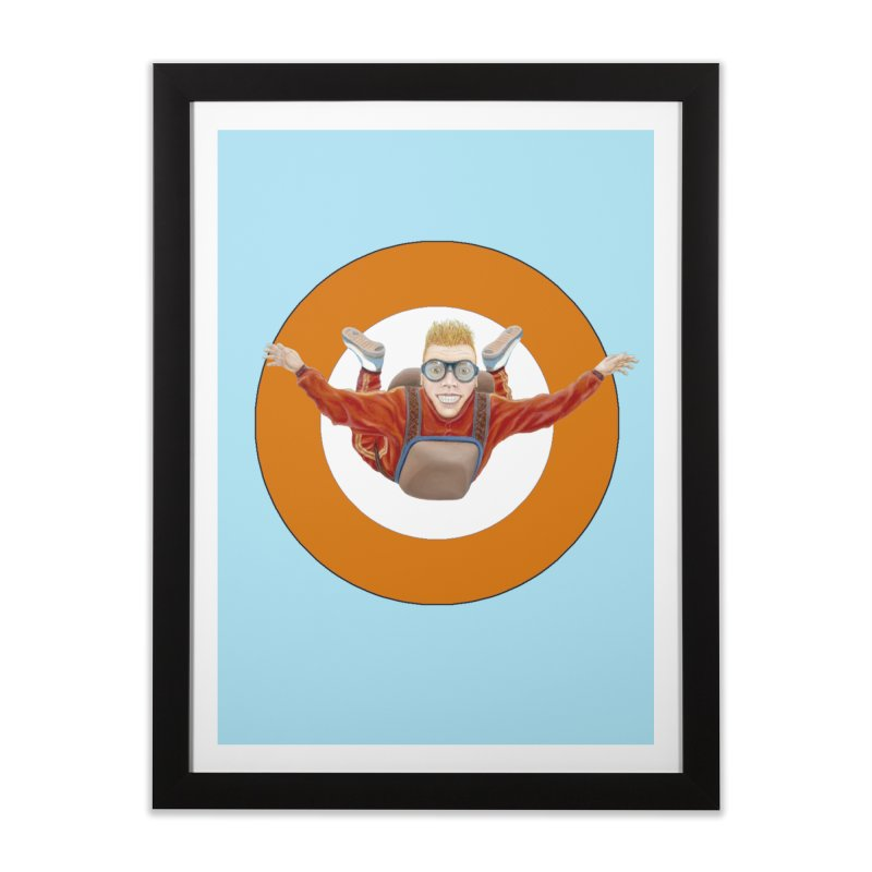 Skydiver (Orange) Home Framed Fine Art Print by RealZeal's Artist Shop